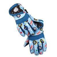 Wholesale Boys Riding Gloves - 4-7y 8-10y Kids Ski Snowboard Waterproof Gloves Children Boys Girls Winter Warm Outdoor Gloves For Riding Use