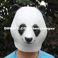 Wholesale Latex Cartoon Movies - Protagonist cosplay Adult Halloween party cosplay cartoon Kung Fu Panda Bao mask latex Funny Toys