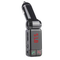 araba hücresi toptan satış-Yeni Cep Telefonu Şarj Araba LED Ekran ile Araba Bluetooth FM Verici Araba MP3 Çalar Araç Şarj ve Çift USB BC06