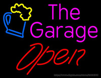 """Wholesale Neon Drinks - The Garage Open Glass Cup Drink Neon Sign Commercial Custom Real Glass Tube Display Sign Advertisement LED Neon Sign Light 17""""X14"""""""