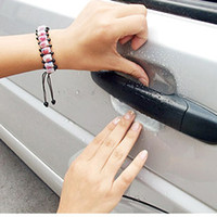 Accessoires de voiture Universal Invisible Car Door Handle Clear Sticker Scratch Automobile Protector anti-scratch Films 4pcs / lot