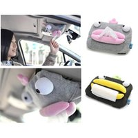 Wholesale Auto Tissue Box Holder - Auto Sun Visor Tissue box Car Accessories Holder Paper Napkin Clip Cute NEW