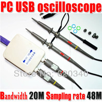 Wholesale MDSO PC USB oscilloscope kit Virtual oscilloscope analog oscilloscope Bandwidth M Sampling rate M With dual probe order lt no track