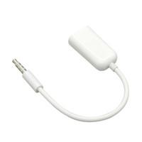 sac polybag blanc achat en gros de-En gros 500 Pcs / lot 2 en 1 3.5mm Mâle à Double Femelle Jack Plug Écouteur Audio Split Câble Adaptateur Blanc Couleur