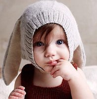 Wholesale Knitted Hats Pigtails - New Children's Accessories Brand oeuf nyc Sweater Caps Girls Braid Hat Sweaters Knit Handmade Cute Pigtail Cap Rhinestone Hats Grey BY0000