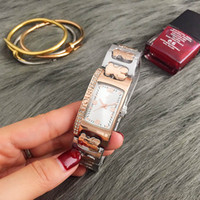 Wholesale Geneva Crystal Watches - 2017 New Hot Sale Full Crystal diamond Classic Geneva Women's Top Brand Luxury Fashion Famous Mechanics Rolling Ladies Quartz Watches