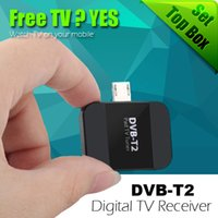 Wholesale Digital Satellite Usb Tv Tuner - New USB DVB T2 HD Digital TV Receiver TV Tuner DVB-T2 Satellite Receiver TV Stick For Android Phone Pad