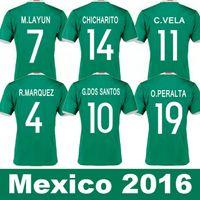 Wholesale Custom Wholesale Football Jerseys - Whosales Camisa Mexicos 2016 Soccer Jerseys,MexicoS Jersey MexicoS 16 17 CHICHARITO G DOS SANTOS Custom Football Shirt A++Quality Free ship