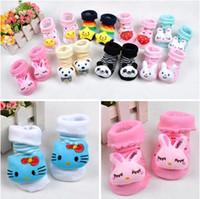 Wholesale Nonslip Sock Shoes - 2015 Nonskid baby girls socks Nonslip Toddler Footgear Baby Shoe Sock baby booties sox wholesale free shipping - 0005HW