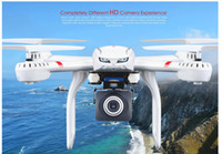 Wholesale Helicopter Mjx - Profession Drones MJX X101 Quadcopter 2.4G 6-Axis RC Helicopter with gimbal Drone with C4008 FPV Wifi Camera HD VS SYMA X8C X600
