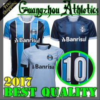 Wholesale Best Red Wines - 2017 2018 Best Quality Gremio Home Away Soccer Jersey 17 18 Gremio MILLER LUAN DOUGLAS DIEGO HAILON Soccer Jerseythird