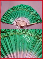Wholesale Hand Made Bamboo Fan - Beautiful Simulation Bamboo Silk Veils Fans Pretty Hand Made Belly Dancing Fans Tools 5colors Available
