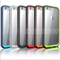 Wholesale Tpu Cases Wholesale Usa - USA supcase Hybrid tpu Colorful Bumper Clear Transparent Hard pc back cover For iPhone 6 6plus 6s samsung S6 edge plus Note5