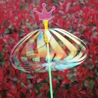Wholesale Wholesale Toys Bubble Wand - New Magic Bubble Flower Variety Magic Wand Wholesale Flash Stick Rainbow Ribbon Variety Twister Creative Toys