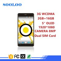 Wholesale Lowest Price Wifi Tv - wholesale Low Price 3G WCDMA wifi Quad core 2GB RAM 16GB ROM Camera 8MP 5inch OLED smartphone android