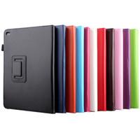 ipad luft geschäftsfall großhandel-Für iPad Pro Business Flip Leder Tablet Cover Fall stehen Auto Wake / Sleep Stand Funda für iPad Mini 4 für iPad Air 2