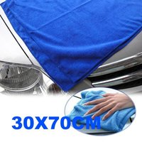 Wholesale Cleaning Cloths Wholesale - High Quality Microfiber Car Cleaning Washing Cloth 30X70CM Free   Drop Shipping E5M1 A5