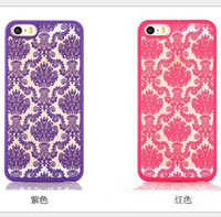 Wholesale Damask Red Black - Fashion Vintage Damask Mandala Datura Henna Flower Matte Hard Plastic PC Translucent Case Cover For iPhone 5S 6 6S Plus S6 edge plus note 5