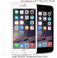 cam ekran koruyucusu iphone6 plus toptan satış-Ekran Koruyucu Temperli Cam Filmi Patlamaya dayanıklı Çizilmeye Dayanıklı Guard iPhone6 6 Artı iphoneX 8 artı 8 7 artı 7 6 artı 6
