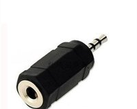 Wholesale 2.5mm 3.5mm adapter resale online - 3 mm Male to mm Female Stereo Audio Adapter Converster