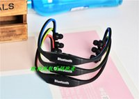 Wholesale wholesale sports horns - S9 Stereo Big Horn Sport Neckback Wireless Bluetooth Earphone Headphone Headset support receive and reject phone call 1pc free shipping