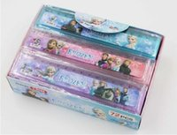 Wholesale Rulers 15cm - Box 72 pcs lot 15cm Plastic Rulers Frozen Ruler Straight Ruler Anna Elsa Students Rulers