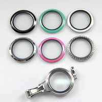 Wholesale Colored Stainless Steel Pendants - 2017 New Arrival Stainless Steel Colored Twist oil drip Lanyard ID Locket For School company 1 pcs
