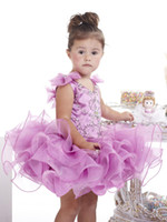 Wholesale Infant Christmas Pictures - Wholesale - Custom Straps crystal beaded bows organza ruffles infant pageant party dresses ball gowns flower girls Toddlers girl's Cupcakes