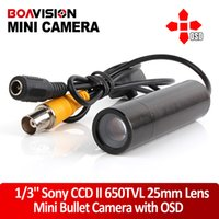 Wholesale Bullet Lens - Mini night vision Bullet Security Camera Sony CCD RJ10 DSP 650TVL 3D-DNR Starlight 0.0005 low Lux OSD 25mm lens