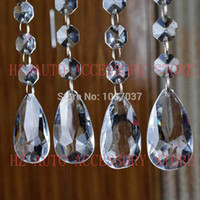 Wholesale Table Crystals Chinese Wholesale - 12 strands Acrylic Crystal Bead Hanging Strand For Wedding Manzanita Centerpiece Trees free shipping wedding centerpieces