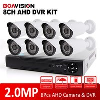 Wholesale Surveillance Cameras Indoor Bullet - HD 1080P  720P 8Ch CCTV System Surveillance Kit 8 Channel AHD DVR KIT With 8x2.0MP IR Bullet Outdoor Indoor Security AHD Camera