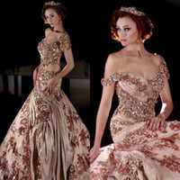 Wholesale Fantastic Pictures - Fantastic Sexy Off Shoulder Prom Dresses 2016 New Arrival Bling Beads Crystals Rhinestone Lace Appliques Embroidery Pleats Evening Gowns