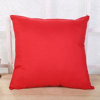 ingrosso divano bianco arredamento-Plain Throw Pillow Covers Covers Poliestere Pillow Case Cover Federe Divano decorativo Car Home Decor Caramella Colore 45 * 45cm Bianco Blu Rosa