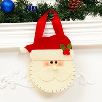 Compra Uomini Santa Claus-New Santa Bag Top Grade Christmas Decoration Gift Bag Stickers Babbo Natale pupazzo di neve Candy Bag Old Man Snowman Elk 3 Opzionale