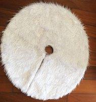 xmas etekler toptan satış-1 adet Yaratıcı Beyaz Peluş Noel Ağacı Etek XMAS Ağacı Dekorasyon Yeni Yıl Ev Partisi Malzemeleri Için
