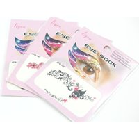 Wholesale Temporary Tattooed Eye Liner - Temporary Eye Tattoo Eyes Sticker Eye Liner Sticker Shadow 50 pcs lot Mix Tatto Safe non-toxic