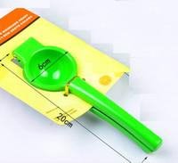 Wholesale Citrus Juicers - Three Colors NEW Manual Hand Lemon Squeezer Juicer Orange Citrus Press Juice Fruit Lime Kitchen Tools