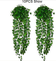 Wholesale home decor drop shipping resale online - 15 off style option Artificial Ivy Leaf Garland Plants Vine Fake Foliage Flowers Home decor feet drop shipping