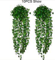 künstliche efeublättergirlande großhandel-15% Rabatt auf 4 Style-Optionen! Künstliche Ivy Leaf Garland Pflanzen Vine Gefälschte Laub Blumen Home decor 7,5 fuß drop shipping 40 stücke