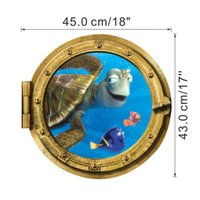 Wholesale Nemo Stickers Decals - 3D Submarine Finding Nemo Wall Stickers for BathRoom Washing Machine Decorative Wall Decals Art Poster Ocean Wallpaper Kids Home Decoration