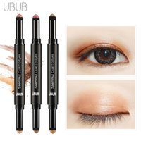 UBUB Double Eyeshadow Silkworm Pen Velvet Shimmer Earth Color Eye Shadow Cream Pen Косметика для лица Косметика 9965