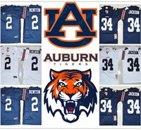 Wholesale Newton S - NEW NCAA Auburn Tigers College Bo Jackson 34 Cameron Newton 2 2017 STITCHED JERSEY FOOTBALL SPORT FASHION HOT SALE 2018