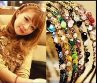 Wholesale Head Bands For Women - 2015 Top Selling headbands korea Style Fashion hair Jewelry For Women Crystal head bands Hair Accessories High quality Factory price