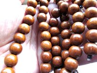 Wholesale Coffee Round Wood Spacer Beads - 10mm 16inch high quality genuine wood round ball brown coffee assortment jewelry spacer beads