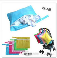 Wholesale Doomagic Clothing - Doomagic Baby Diaper Nappy Bag Stroller Accessories Waterproof Baby out dirty clothes storage bag stroller organizer bags Hung Bag 100p530
