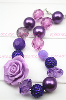girls chunky bead necklace großhandel-Mädchen Chunky Halskette, Mädchen Bubblegum Chunky Halskette, Mädchen Chunky Kaugummi Perlenkette, Chunky Perlenkette CB100
