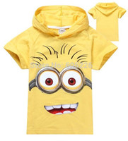 Wholesale Despicable Shirt Kids - despicable me 2018 new Children boys girls clothing childrens clothes hoodies  100% cotton short-sleeve kids cartoon T shirt.