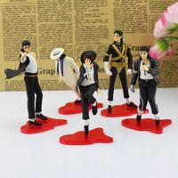 Wholesale michael jackson figures - Michael Jackson MJ Action Figures PVC toys Collection Dolls Michael Jackson dance Hand to do Michael Jackson Children's Gift Sets