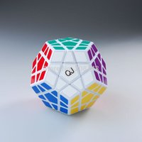 Wholesale Qj Megaminx - Wholesale-QJ Megaminx Magic Cube Puzzle Cube White Speed Cube