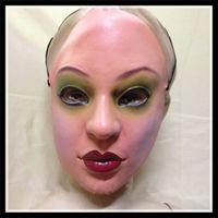 látex feminino venda por atacado-Frete grátis halloweem cosplay cross dressing party mulheres máscara humana de borracha látex halloween atacado realista máscara feminina menina máscara facial
